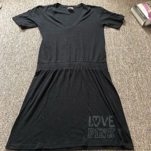 Victoria's Secret Pink Black Short Sleeve Dress S